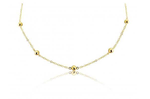 9ct Yellow Gold Ball And Chain Necklace
