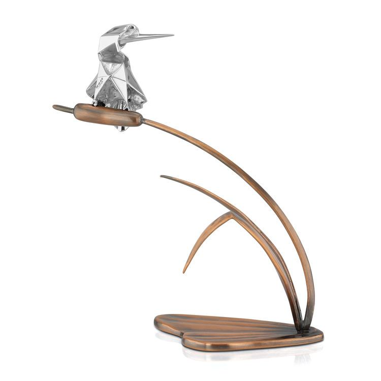 Nomi Sterling Silver Origami Kingfisher Sculpture