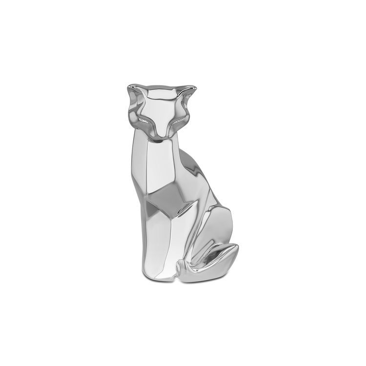 Nomi Sterling Silver Origami Sitting Cat Sculpture