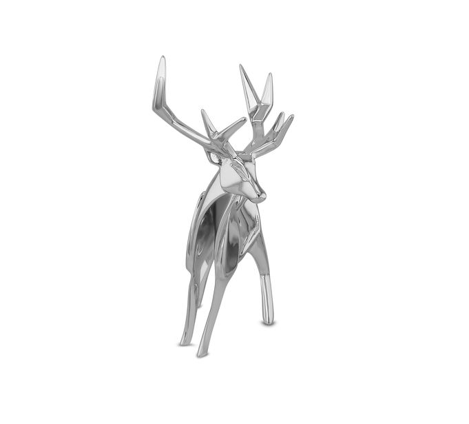 Nomi Sterling Silver Origami Stag Sculpture